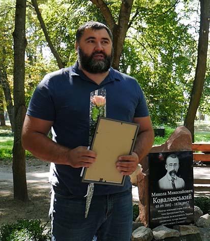 p1050511.00 17 09 18.still006 В Сосниці відкрили пам'ятний знак Миколі Ковалевському