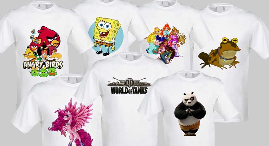 5 odyag Варіанти друку на футболках