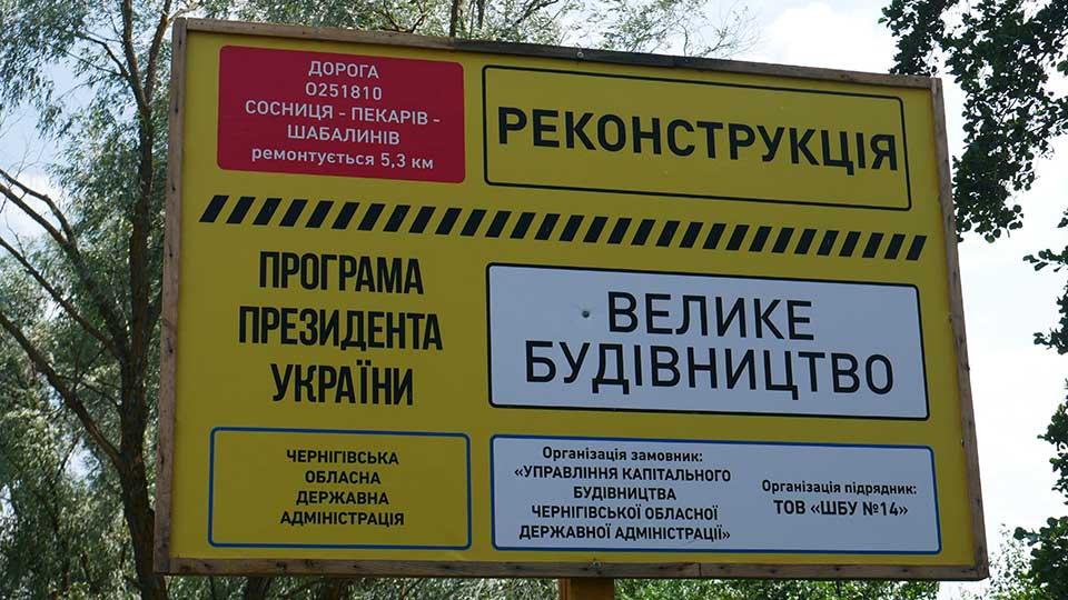 P1280627 Розпочато поточний середній ремонт дороги «Сосниця – Пекарів»