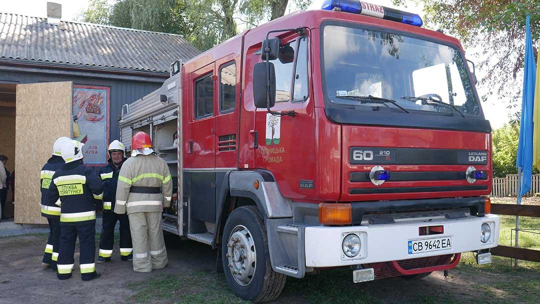 P1060694 У Чорнотичах запрацювало оновлене пожежне депо з новим спецавтомобілем